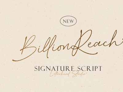Billion Reach - Signature Script digitalart handwrittenfont scriptfont font typography