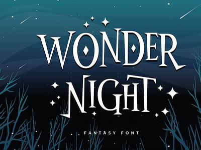Wonder Night - Fantasy Font comicfont typeface font typography