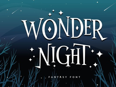 Wonder Night - Fantasy Font comicfont font typography typeface