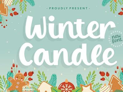 Winter Candle Font comicfont font cartoonfont typeface typography