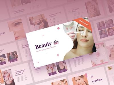 Beauty - Powerpoint beauty digitalart template ppt powerpoint