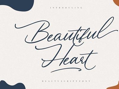 Beautiful Heart digitalart scriptfont handwrittenfont font typography