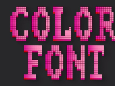 Pixel 2 - Color SVG Font digitalart pixelfont pixelated svgfont typography