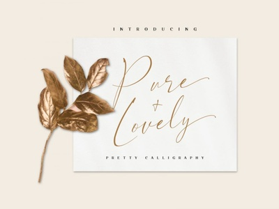Pure & Lovely - pretty calligraphy digitalart calligraphy font freefont typography