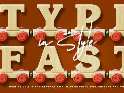 Wooden Train - Color SVG Font typeface digitalart svgfont font typography
