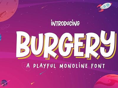 Burgery - A Playful Font comicfont typeface digitalart displayfont typography