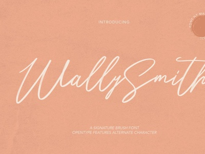 Wally Smith Signature Brush Font digitalart scriptfont handwrittenfont font typography