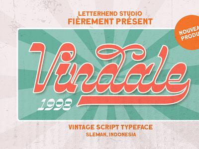 Vindale - Vintage Typeface digitalart retrofont vintagefont font typography