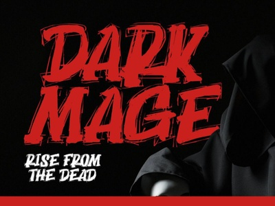 Dark Mage - Scary typeface typeface dooglefont font typography