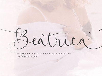 Beatrica Modern scriptfont handwrittenfont calligraphy font typography