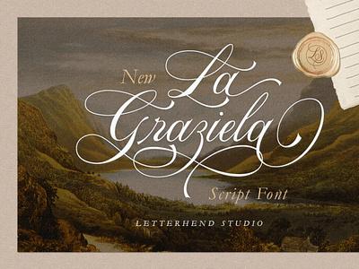 La Graziela - Script Font handwrittenfont calligraphy font typography