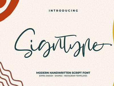 Signtype – Modern Handwritten scriptfont handwrittenfont calligraphy font typography