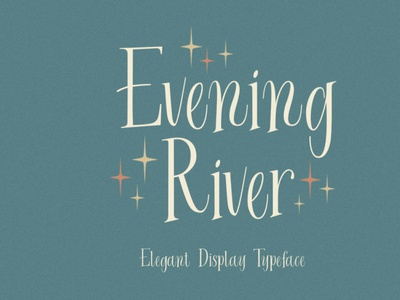 Evening River displayfont typeface font typography