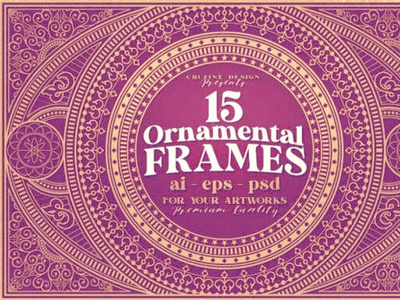15 Rectangle & Ornamental Frames digitalart ornamental frames vintage