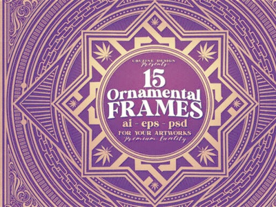 15 Square & Ornamental Frames digitalart retro vintage ornamentals frames