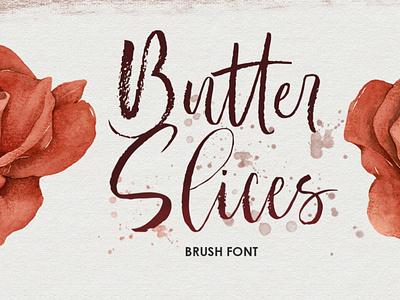 Butter Slices - Brush Font typeface handwrittenfont brushfont font typography
