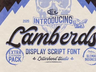Lamberds - Display Script Font digitalart font vintagefont typeface typography