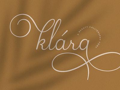 Klara | Beauty Calligraphy Font scriptfont handwrittenfont calligraphy typography
