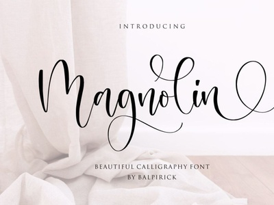 Magnolin Beautiful Calligraphy Font scriptfont handwrittenfont font typography