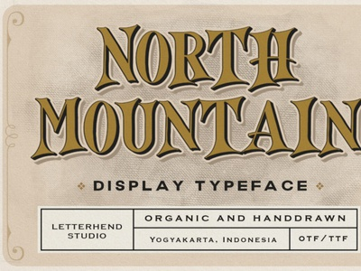 North Mountain - Display Typeface typeface displayfont font typography