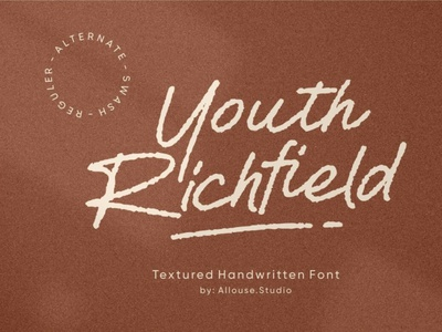 Youth Richfield digitalart scriptfont handwrittenfont font typography