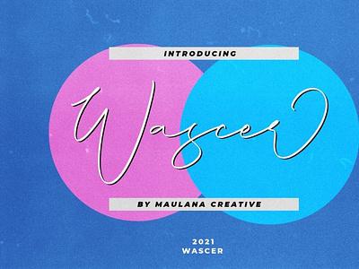 Wascer Modern Script Brush Font scriptfont handwrittenfont font typography