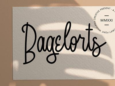 Bagelorts Handwritten Script Font scriptfont handwrittenfont font typography