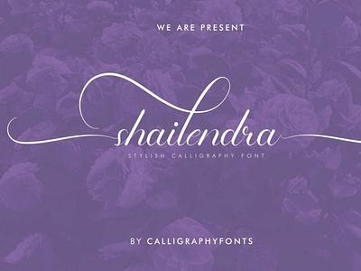 Shailendra scriptfont handwrittenfont calligraphy font typography
