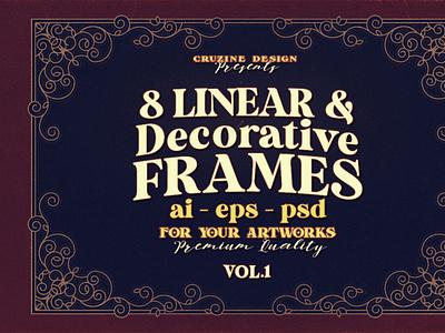 8 Decorative & Linear Frames digitalart ornamentals frames decorative