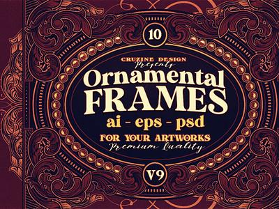 10 Frames Vol.9 - Victorian Ornament vintage ornamentals frames decoratives digitalart