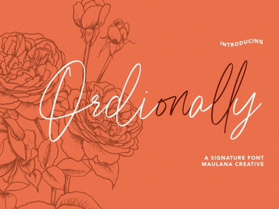 Ordionally Signature Font digitalart scriptfont handwrittenfont typography