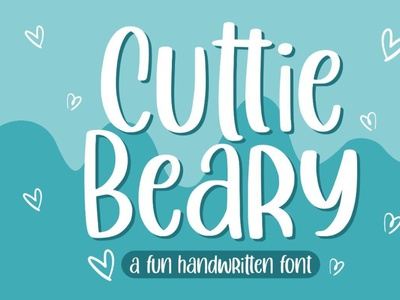 Cuttie Beary typeface comicfont handwrittenfont font typography