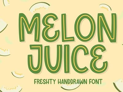 Melon Juice - Freshty Font displayfont comicfont font typography