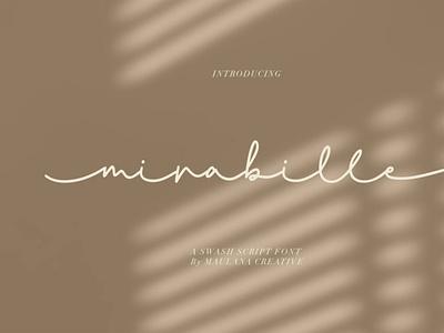 Mirabille Swash Script typeface scriptfont handwrittenfont font typography
