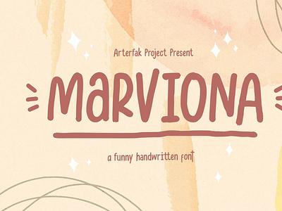 Marviona - Sweet Handwritten scriptfont font handwrittenfont typeface typography