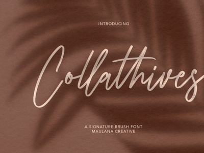 Collathives Signature Brush Font scriptfont handwrittenfont font typography