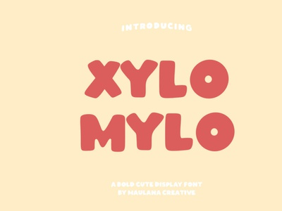 Xylomylo Display Font font displayfont typeface typography