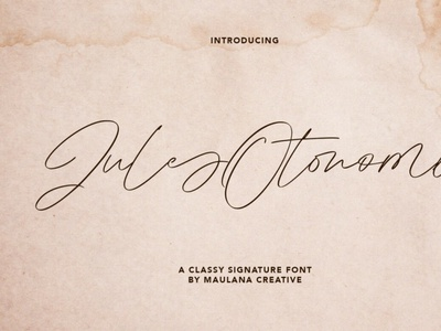 Jules Otonomi Signature Font handwrittenfont signature calligraphy font typography