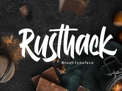 Rusthack scriptfont handwrittenfont brushfont font typography