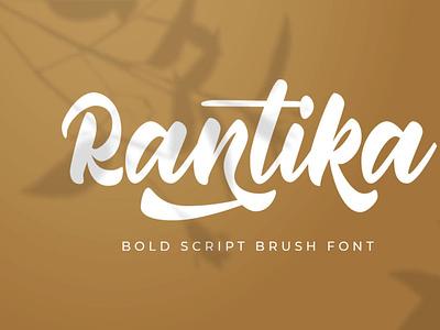 Rantika - Bold Script typeface brushfont font typography