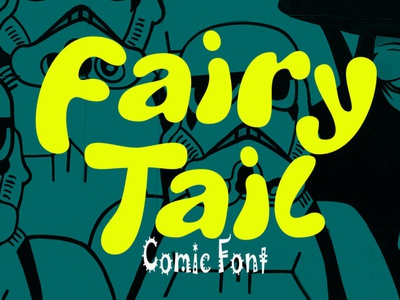 Fairy Tail digitalart typeface comicfont font typography