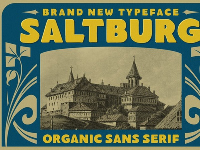 Saltburg - Organic Sans Serif digitalart vintagefont sansserif font typography