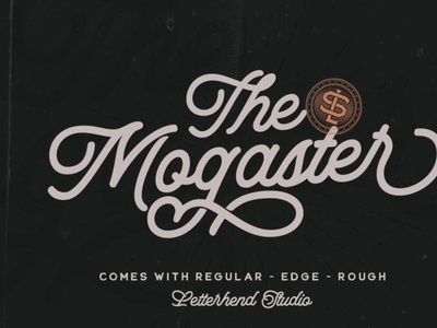 The Mogaster - Monoline Script handwrittenfont scriptfont vintagefont font typography