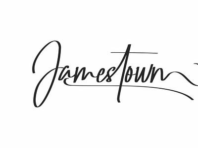 Jamestown font scriptfont handwrittenfont typeface typography