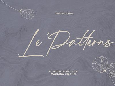 Le Patterns Script Font handwrittenfont scriptfont font typography