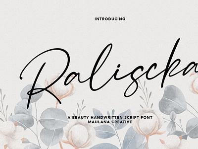 Raliscka Handwritten Script Font calligraphy scriptfont handwrittenfont font typography