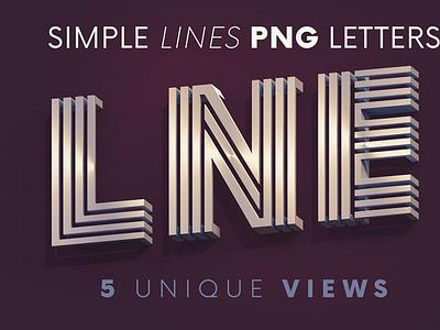 Simple Lines - 3D Lettering lettering digitalart 3d typography