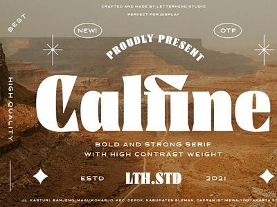 Calfine - Bold Serif typeface font seriffont typography
