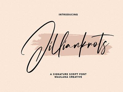 Jilliankrots Signature Font signaturefont scriptfont handwrittenfont typography