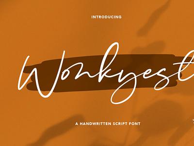 Wonkyest Handwritten Script Font scriptfont handwrittenfont font typography